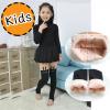 [ไซส์เด็ก] K6478 ถุงน่องกันหนาวเด็ก แบบบุกำมะหยี่ พิมพ์ลายครึ่งขา