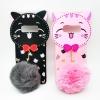 ซัมซุง Note 8 เคสtpuแมวดำห้อยขนเฟอร์