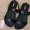 องเท้าสวมบาจา พื้นยางแก้ว สีดำ