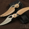 มีดพับรูปขนนกสีทอง KNIFE ดีไซน์สวย ขนาด 7.25 นิ้ว