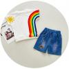 เสื้อ+กางเกง สีขาว แพ็ค 3 ชุด ไซส์ 90-100-110