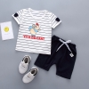 ชุดเซตเสื้อลายหนู+กางเกงสีกรมท่า แพ็ค 4 ชุด [size 6m-1y-2y-3y]