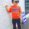 เสื้อ+กางเกง สีส้ม แพ็ค 5ชุด ไซส์ S-M-L-XL-XXL (เหมาะสำหรับ 6ด.-4ปี)