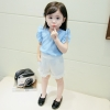 ชุดเซตเสื้อสีฟ้า+กางเกงสีขาว แพ็ค 4 ชุด [size 6m-1y-18m-2y]