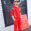 เสื้อ+กางเกง สีแดง แพ็ค 5ชุด ไซส์ S-M-L-XL-XXL (เหมาะสำหรับ 6ด.-4ปี)