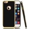 เคสนิ่มหลังเงาขอบทอง ไอโฟน 5/5se/5s