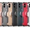 เคส iPhone X เคสกันกระแทกแยกประกอบ 2 ชิ้น ด้านในเป็นซิลิโคนสีดำ ด้านนอกพลาสติกเคลือบเงาโลหะเมทัลลิค ราคาถูก
