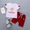 ชุดเซตเสื้อลายหนู+กางเกงสีแดง แพ็ค 4 ชุด [size 6m-1y-2y-3y]