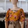 เสื้อลายดอก+ริบบิ้น