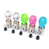 จุ๊บลมไฟเลด เอเลี่ยน Bicycle Bike Tire Valve LED Lights Colorful Skull Head Light