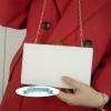 พร้อมส่ง Evening Clutch กระเป๋าออกงาน สีขาว ทรงสี่เหลี่ยม สะท้อนแสง มาพร้อมสายสะพายสั้น/ยาว