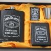 ชุดกระป่องสแตนเลส Jack Daniel's อย่างดี สำหรับพกพา สีดำผิวด้าน