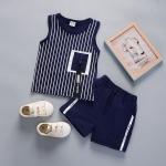ชุดเซตเสื้อกล้ามลายทางสีกรมท่า [size 6m-1y-2y-3y]
