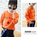 เสื้อ สีส้ม แพ็ค 6 ชุด ไซส์ 110-120-130-140-150-160
