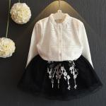 เสื้อ+กระโปรง สีขาว แพ็ค 5 ชุด ไซส์ 100-110-120-130-140