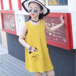 ชุดกระโปรง สีเหลือง เเพ็ค 6 ชุด ไซส์ 110-120-130-140-150-160