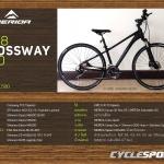 จักรยานไฮบริด MERIDA CROSSWAY 300 ,30สปีด ดิสน้ำมัน 2018