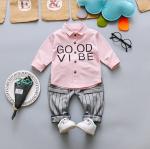 เสื้อ+กางเกง สีชมพู แพ็ค 4 ชุด ไซส์ 6-8-10-12 (เหมาะสำหรับ 6ด.-4ปี)