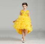 ชุดกระโปรง สีเหลือง แพ็ค 6 ชุด ไซส์ 90-100-110-120-130-140 (เลือกไซส์ได้)
