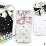 case iphone 5 เคสไอโฟน5 เคสติดโบว์ใหญ่ประดับด้วยเพชรสวยๆ