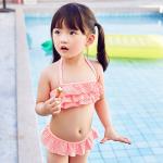 ชุดว่ายน้ำ สีชมพู แพ็ค 3 ชุด ไซส์ 3-4ปี ,4-5ปี ,5-6ปี