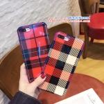 เคส iPhone 8 Plus พลาสติก TPU ลายสก๊อตสวยงามมาก ราคาถูก