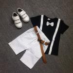 เสื้อ+กางเกง เสื้อสีดำ แพ็ค 3 ชุด ไซส์ 120-130-140 (เลือกไซส์ได้)