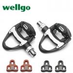 บันไดจักรยานเสือหมอบ WELLGO R312 Carbon Fiber แถมคลีท 2 ชุด