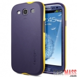 เคส S3 Case Samsung Galaxy S3 III i9300 เคส SPIGEN 2 ชิ้น หุ้มด้วยซิลิโคน TPU ก่อน 1 ขั้นและใส่กรอบนอกพลาสติกตัดสีสวยๆ อีก 1 ชั้น แนวๆ สวยๆ