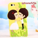 case iphone 5s / 5 ชาย หญิง บ่าวสาวคู่แต่งงานแสนหวานสุดน่ารัก เคสมือถือราคาถูกขายปลีกขายส่ง