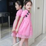 ชุดกระโปรง สีชมพู เเพ็ค 6 ชุด ไซส์ 110-120-130-140-150-160