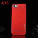 เคสไอโฟน4 case iphone 4s motomo เคสโลหะเงาๆ มีลายเส้นโลหะสวยๆ ด้านในเป็นพลาสติก