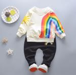 เสื้อ+กางเกง สีกรม แพ็ค 4 ชุด ไซส์ 70-80-90-100