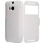 เคสฝาพับ HTC One M8 ยี่ห้อ Nillkin รุ่น Fresh Series สีขาว