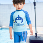 ชุดว่ายน้ำ สีฟ้า แพ็ค 6 ชุด ไซส์ 1-2ปี,2-3ปี ,3-4ปี ,4-5ปี ,5-6ปี ,7-8ปี