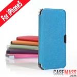 case iphone 5 เคสไอโฟน5 เคสหนังฝาพับข้างบางๆ สวยๆ Ultra-thin cross pattern iPhone5 Holster