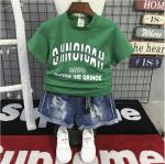 เสื้อ สีเขียว แพ็ค 5 ชุด ไซส์ 7-9-11-13-15