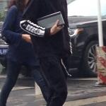 เสื้อแจ็คเก็ต เสื้อคลุม KRIS EXO BAZAR 2014 สีดำแขนยาว