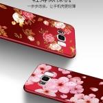 เคส Samsung S8 Plus ซิลิโคนแบบนิ่ม สกรีนลายดอกไม้ สวยงามมากพร้อมสายคล้องมือ ราคาถูก (ไม่รวมแหวน)