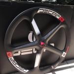 ล้อเสือหมอบ Deca Carbon spoke wheel ,ล้อหลัง 5 ก้าน ,700x23c