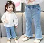 กางเกง สีฟ้า แพ็ค 4 ชุด ไซส์ 70-80-90-100