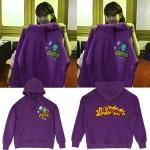 เสื้อฮู้ด (Hoodie) สีม่วง ลายกบ แบบ IU