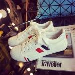 รองเท้าผ้าใบเกาหลี - สีขาว 35-39