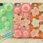 case iphone 5 เคสไอโฟน5 เคสประดับด้วยดอกกุหลาบหลากสี rose flowers phone shell