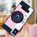 เคส Samsung Note 8 ซิลิโคนรูปกล้องถ่ายรูปน่ารัก ตรงเลนส์สามารถยืดออกมาตั้งได้ พร้อมสายคล้อง ราคาถูก