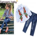 เสื้อ+กางเกง แพ็ค 5ชุด ไซส์ 80-90-100-110-120 (เลือกไซส์ได้)