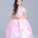 ชุดเจ้าหญิง สีชมพู แพ็ค 5ชุด ไซส์ 110-120-130-140-150 (เลือกไซส์ได้)
