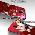 เคส OnePlus 6 ซิลิโคนสกรีนดอกไม้สวยงามมาก พร้อมสายคล้องมือ (แหวนแล้วแต่ร้านจีนแถมหรือไม่) ราคาถูก