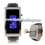 นาฬิกาแฟชั่น LED Mirror Blue LED Watch