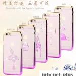 เคส iphone 6 plus 5.5 นิ้ว พลาสติกของสีรุ้งด้านหลังสกรีนลายนางฟ้า สวยงามมาก ราคาถูก